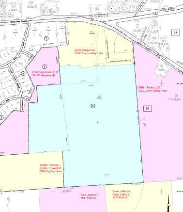Dunning tract neighbors as of 2014.