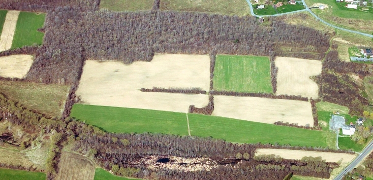Dunning Tract looking west. In the lower right corner is US Rt. 20 and Grace Chapel.