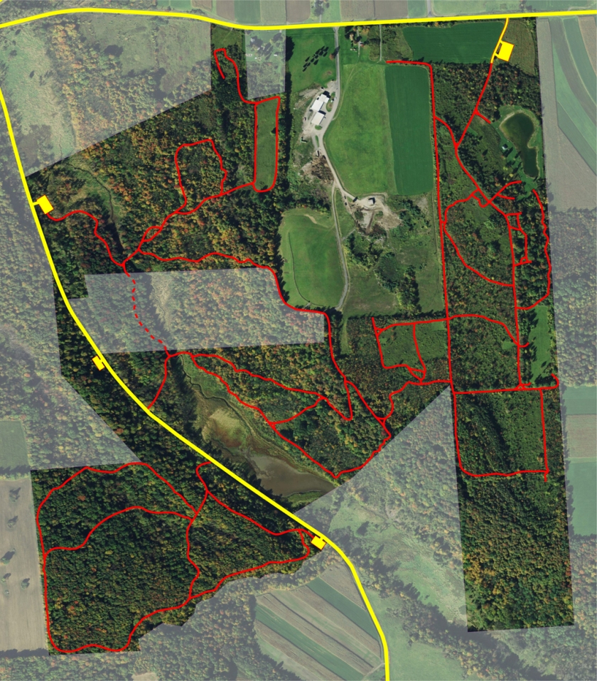 Satelite view of Federal Farm and adjacent areas.