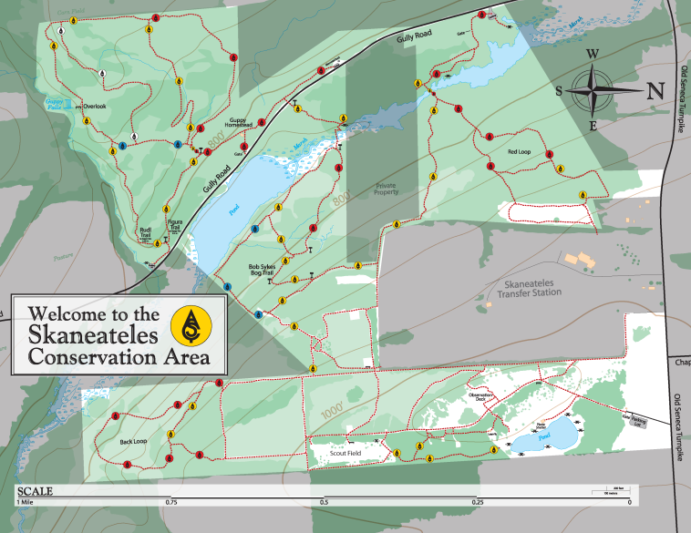 Skaneateles Conservation Area map.